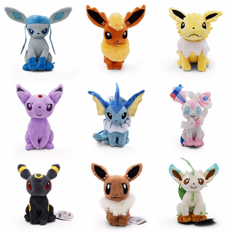 Новые плюшевые игрушки Eevee 9 стилей Umbreon Evee Espeon Jolteon vaporion Flareon Glaceon Leafeon Sylveon мягкая кукла с набивными животными