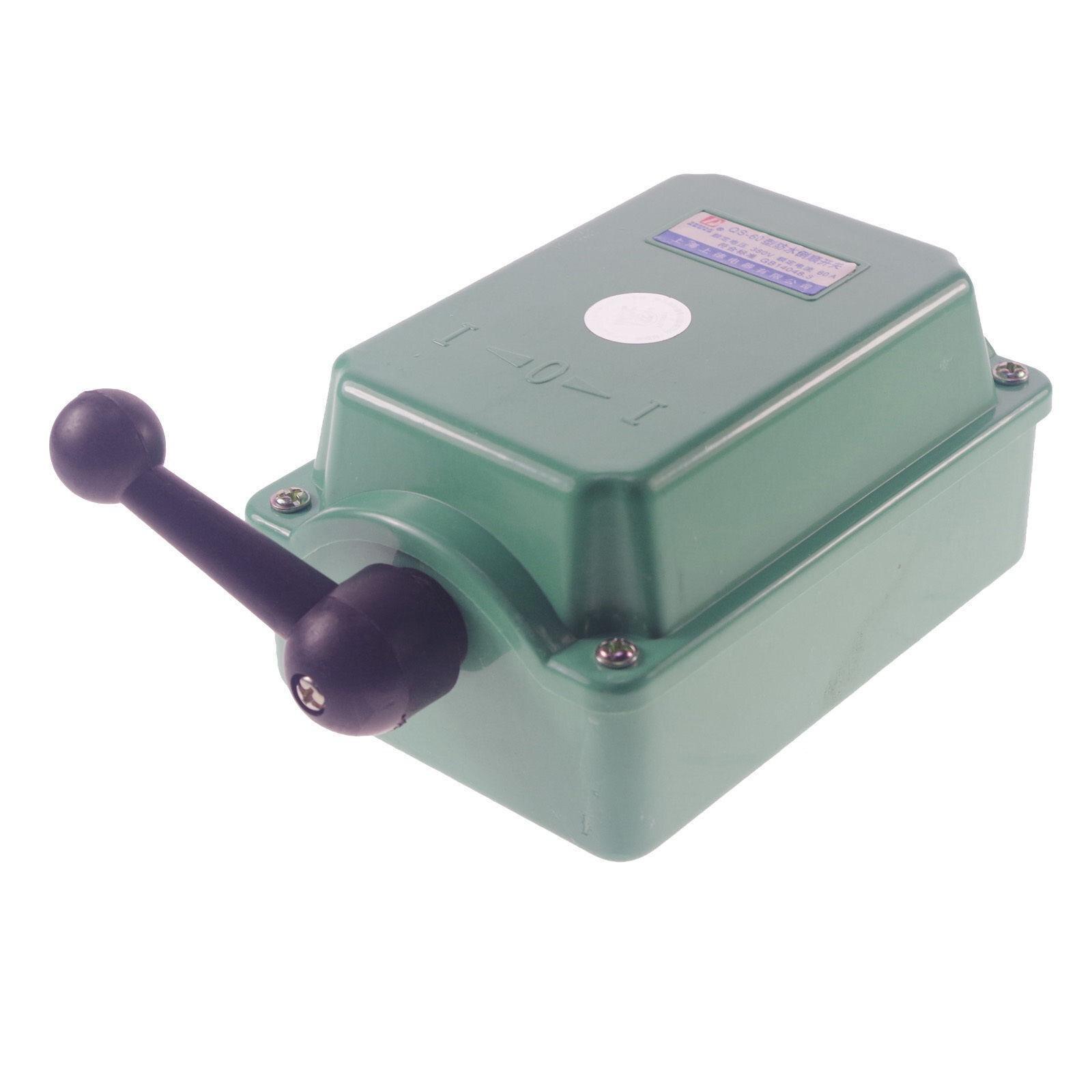 30amp 110 v 220 v 380 v à prova de chuva que inverte o interruptor do cilindro para a fase monofásica 3