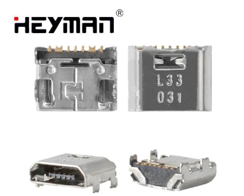 Heyman conector de carga para Samsung T110 T111 T113 T115 T116 T560 T561 T580 T585 Galaxy Tab A (7 pin micro USB de tipo B)
