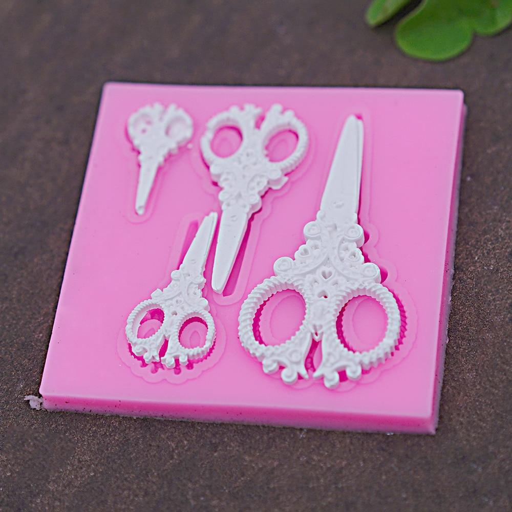 Ножничные силиконовые формы помадной для украшения торта инструменты шоколада