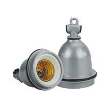 Bases de lampes en céramique E27 2 pièces   Porte-lampe en céramique résistant aux hautes températures, ampoule chauffante étanche E27 Base de vis, éclairage agricole