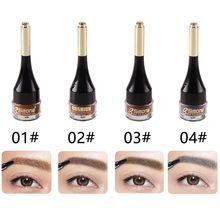 4 Colors Henna Eyebrow Gel Waterproof Tint Makeup Brush Set Eye Brow Wax Long Lasting Tint Shade Make Up Paint Pomade Cosmetic