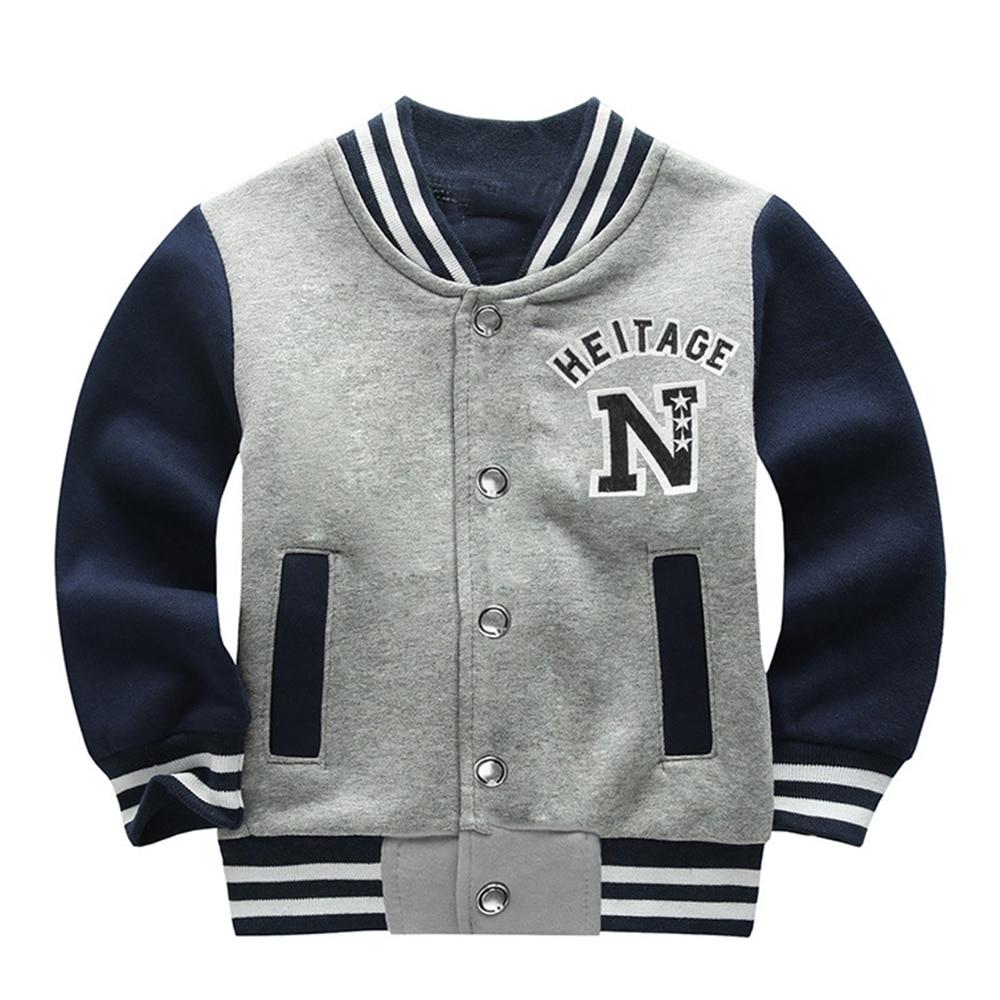 Cool Baseball Jacket 2017 Fashion boys Long Sleeve Slim Baseball Uniform outerwear bomber jacket baseball jacket High Quality