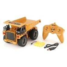 HUINA 1540 1/18 2.4G 6CH alliage Version 360 degrés Rotation RC camion à benne basculante Construction ingénierie véhicule jouet cadeau
