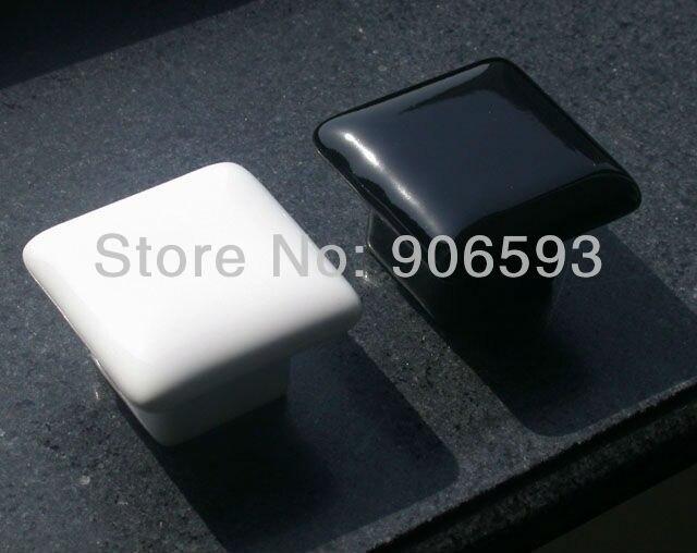 50pcs lot free shipping Porcelain glaze square drawer knobs