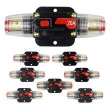 1 Uds DC 20A-100A Car Truck Audio fusible reajustable disyuntor Audio Amplifier protección de sobrecarga portafusibles 12V