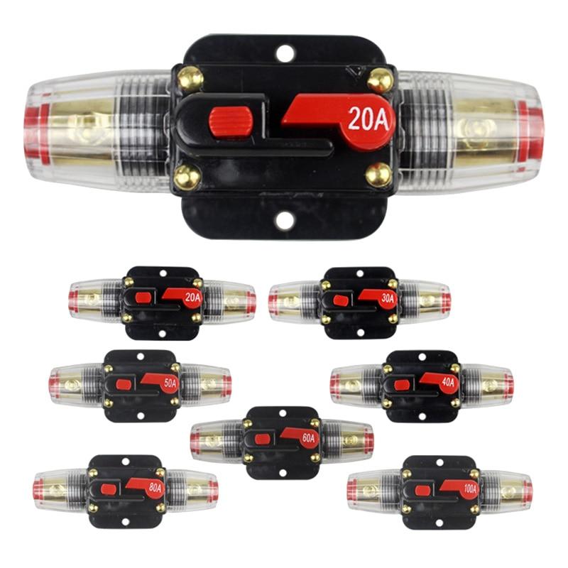 100A 50A 60A 80A 150A 12 В 24 автомобильный Грузовик аудио усилитель автоматический выключатель держатель предохранителя AGU стиль стерео усилитель ремонт предохранитель адаптер
