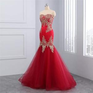 Сексуальное вечернее платье русалки с открытыми плечами, весна 2019