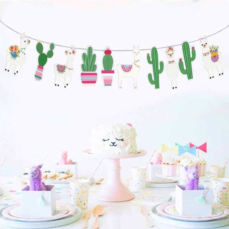 Llama y Cactus Garland   Llama Bunting   Llama Fiesta   decoración de la habitación decoración   Decoración de Fiesta   foto Prop