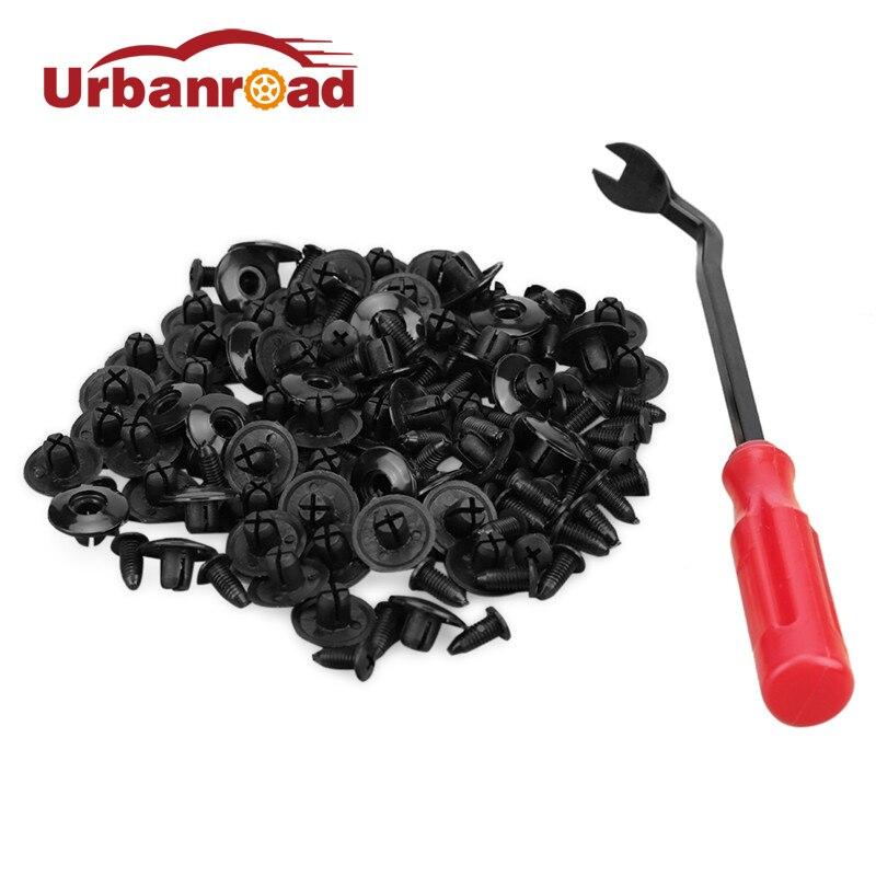 100 Uds 8mm Auto Puerta de coche guardabarros de parachoques de plástico Clip de fijación Auto accesorios de fijación Universal Clip del remache para nissan