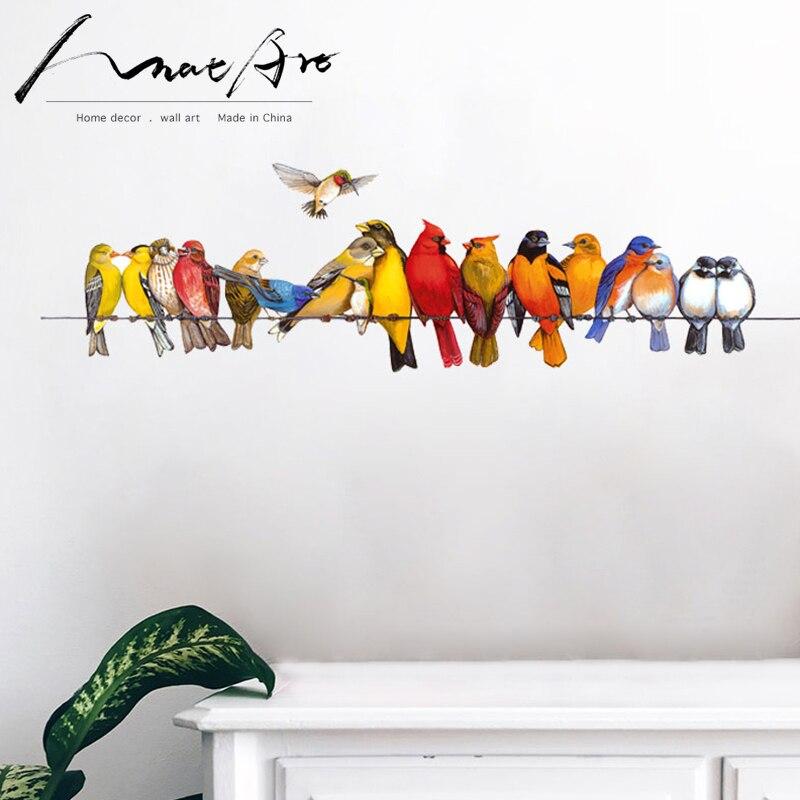 Decoração da parede da arte Do Pássaro animal criança mural crianças decoração do quarto quarto estilo nórdico sala arte da parede moda Moderna