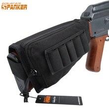 Excelente elite spanker tático arma de combate buttstock bala clipe revista bolsa rifle/espingarda estoque bolsa titular/bochecha almofada