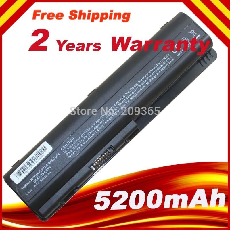 5200 mah 6 células bateria do portátil para hp pavilion dv4 dv5 dv6 pavilhão bateria frete grátis