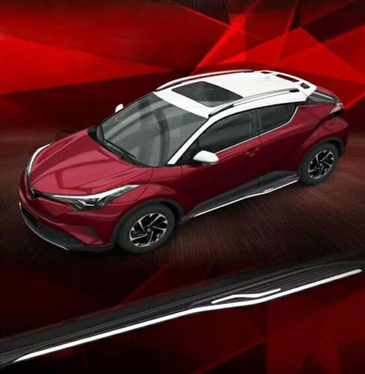 Par de escalones laterales para Toyota CHR 2018 2019 2020 tablero de carrera Nerf Bar plataforma iboard