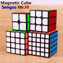 Sengso – cube magique magnétique Mr.M 3x3x3, autocollants 2x2x2, puzzle de poche professionnel, 4x4x4 5x5x5, jouets