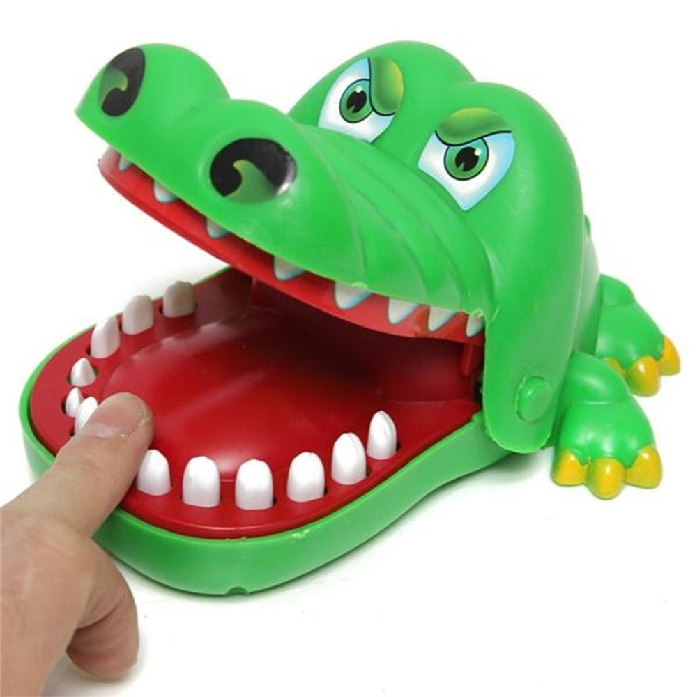 2017 hot crocodile jokes mouth dentist bite finger game joke fun funny crocodile toy antistress gift kids child family prank toy 2021 Hot Sale New Creative Small Size Crocodile Mouth Dentist Bite Finger Game Funny Gags Toy For Kids Play Fun