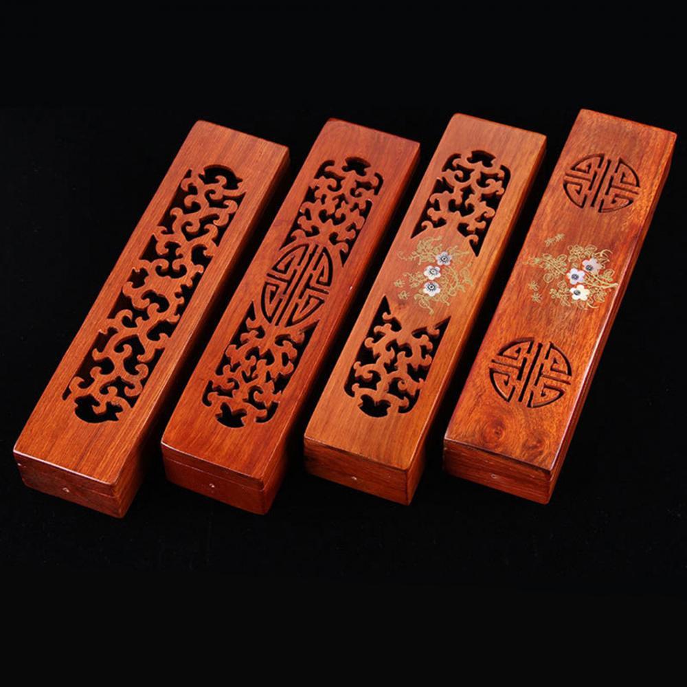 Quemador de incienso de cerámica tallado a mano, soporte de palo de incienso hueco, caja de palo Joss, incensario para decoración del hogar, sala de estar, Oficina