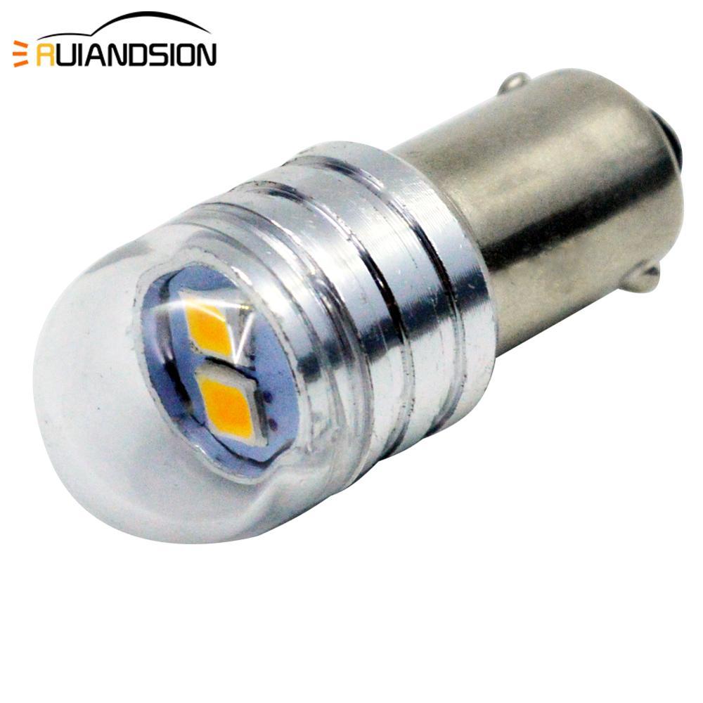 2x Автомобильная Лампа BA9S T4W BAX9S H6W BAY9S H21W светодиодная белая 3030 2SMD 1,5 W 6V Светодиодная автомобильная лампа 12V Parking 233 3000K