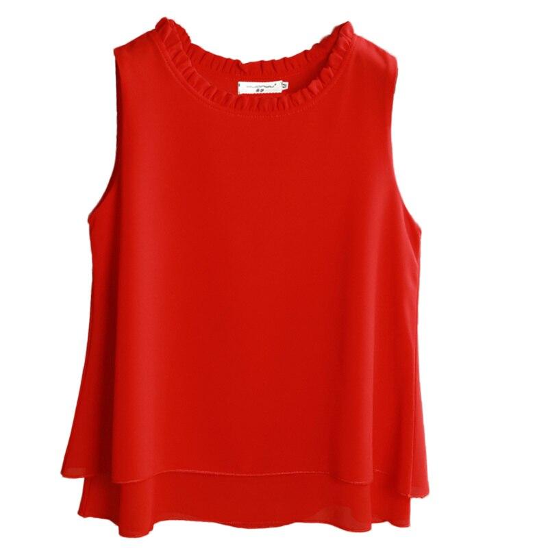 Banerdanni 2020 Summer New Arrival Casual blouse High Quality Sleeveless chiffon shirt Loose Plus Size 5XL Women's blouse