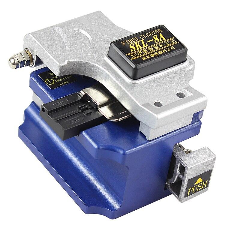 SKL-8A de fibra óptica cuchillo de corte cuchilla de fibra de fusión en caliente frío conjunta de alto de precisión óptica de fibra Cleaver