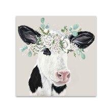 HDARTISAN mur Art photo impression animale toile peinture bébé veau pour salon décor à la maison pas de cadre