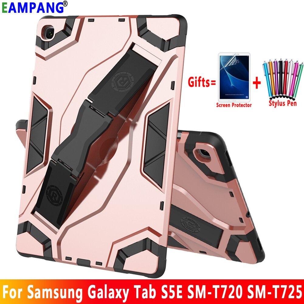 Para Samsung Galaxy Tab S5e 10,5 Funda T720 T725 SM-T720 SM-T725 Tablet silicona carcasa a prueba de golpes Funda + Protector de pantalla