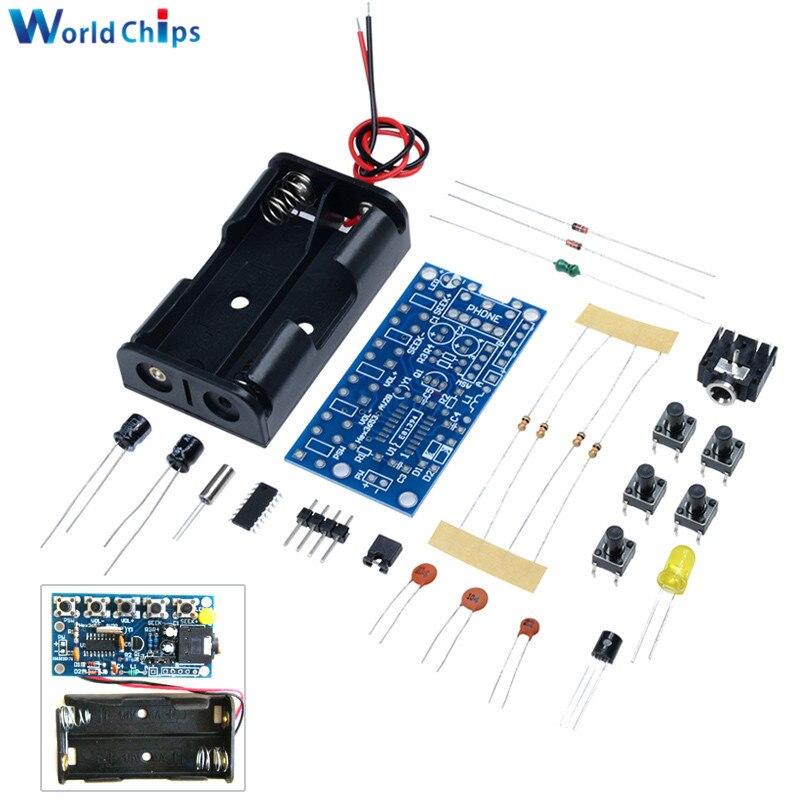 Беспроводной стереоприемник 76 МГц-108 МГц, комплект fm-радио, аудио приемник, PCB, FM модуль, наборы обучающей электроники для Diy, постоянный ток 1,8-3,6 В