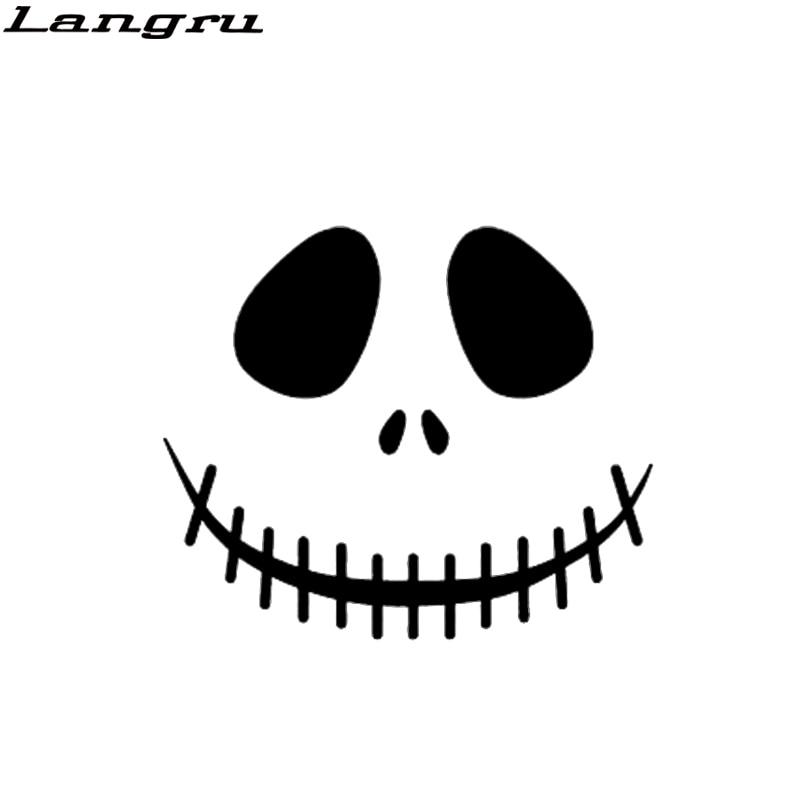 Calcomanías de vinilo para decoración de coche Langru, calaveras graciosas, calaveras de Terror implacable, misterioso pirata ladrón