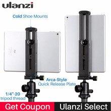 Ulanzi u-pad Pro tableta de aluminio Fijación de montura de trípode abrazadera w zapato frío para iPad Pro iPad Mini Air Huawei PC a Boya BY-MM1 Mic