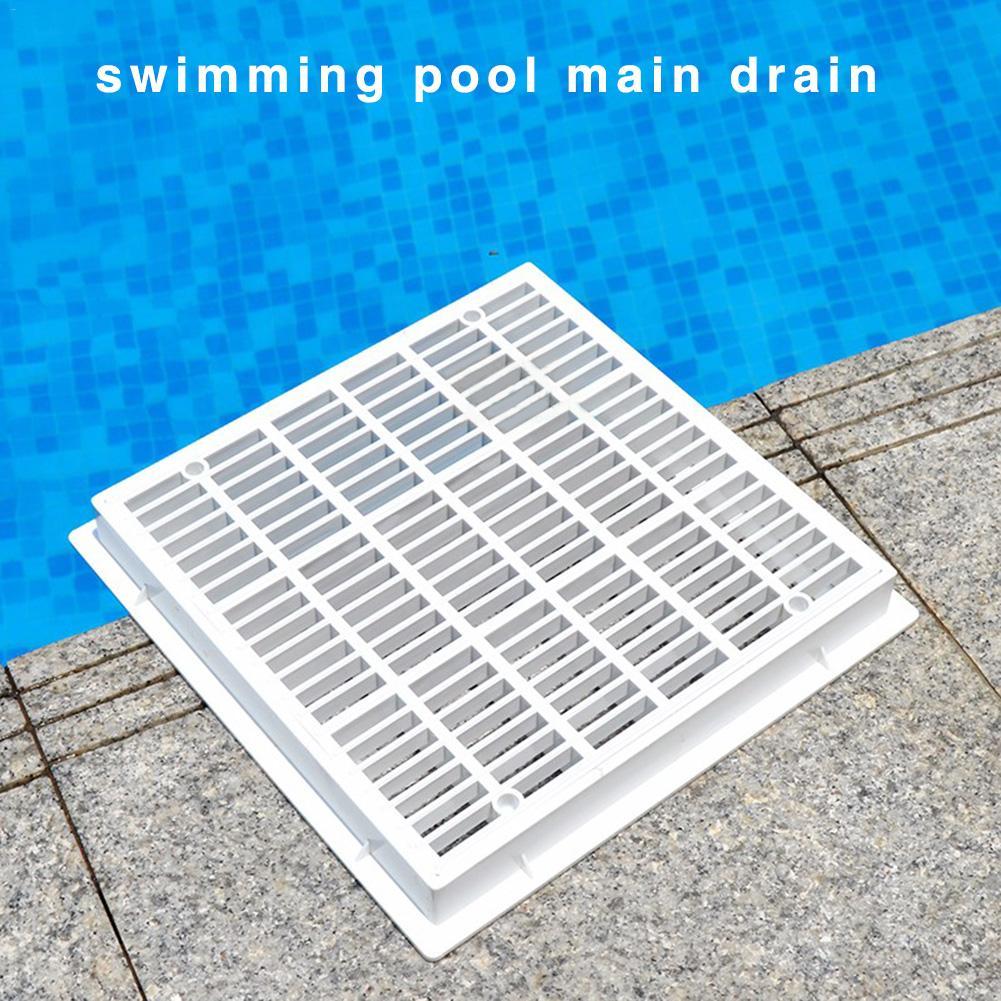 30CM Swimming Pool Floor Drain Cover Square Main Drainage Port Bottom Drainage Device Anti-corrosion Removable Floor Drain