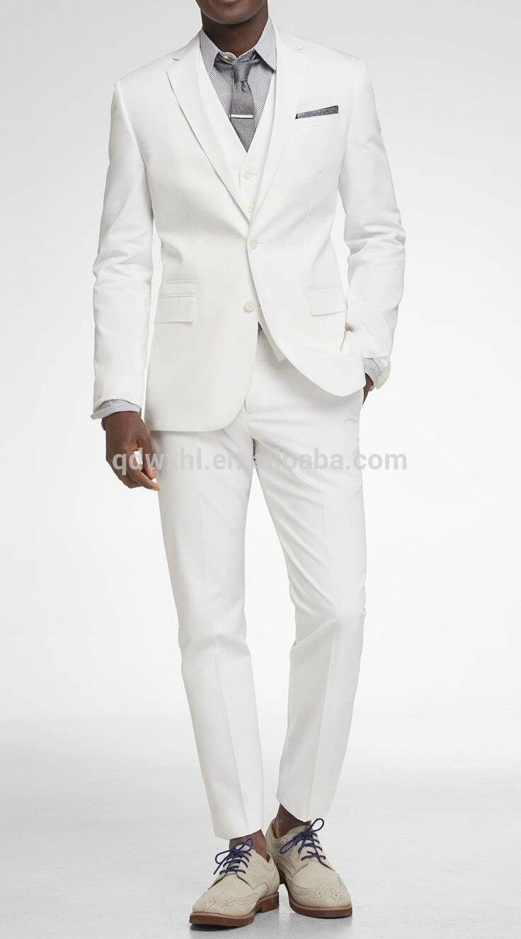 بدلة زفاف عاجية بيضاء للرجال ، بدلة ضيقة ، بدلة سهرة ، بدلة زفاف لإشبين العريس والعريس