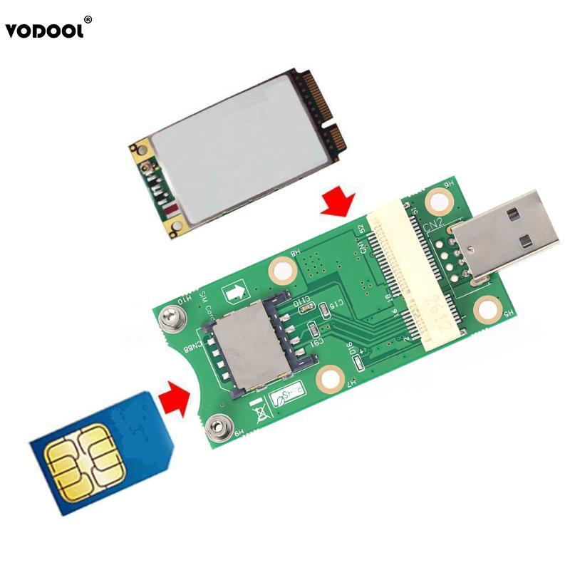 Mini PCI-E к USB адаптеру с слотом для карт SIM 8 Pin для модуля WWAN/LTE Поддержка разъема для sim-карты 6 Pin/8 Pin высокое качество