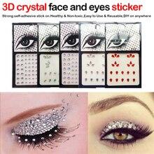 1pcs Glitter 3D Sexy Crystal Jewel Eyes Festival Makeup Party Tattoo Tools Eyes DIY Glitter Glitter Makeup Ornament Sticker