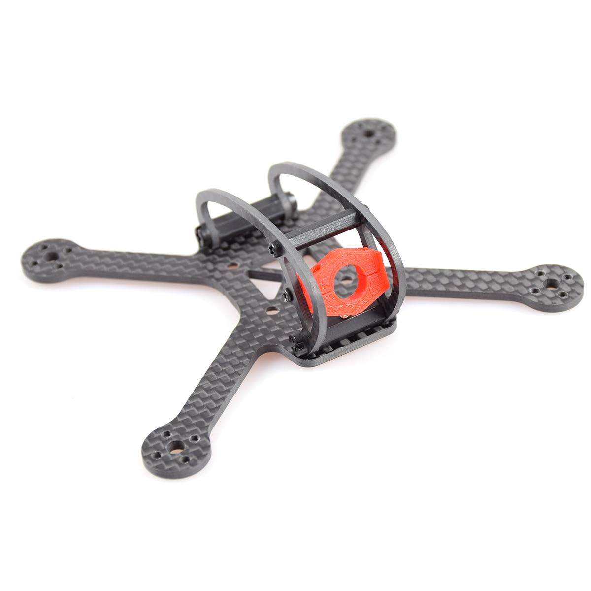 JMT líder-120 120mm Kit de marco de fibra de carbono forma X 4-eje para el bricolaje Micro FPV Quadcopter Drone