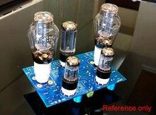 6sn7-300b estéreo tubo de vácuo amplificador de potência hi-fi single-ended kit diy 8wx 2 para pré-amplificador