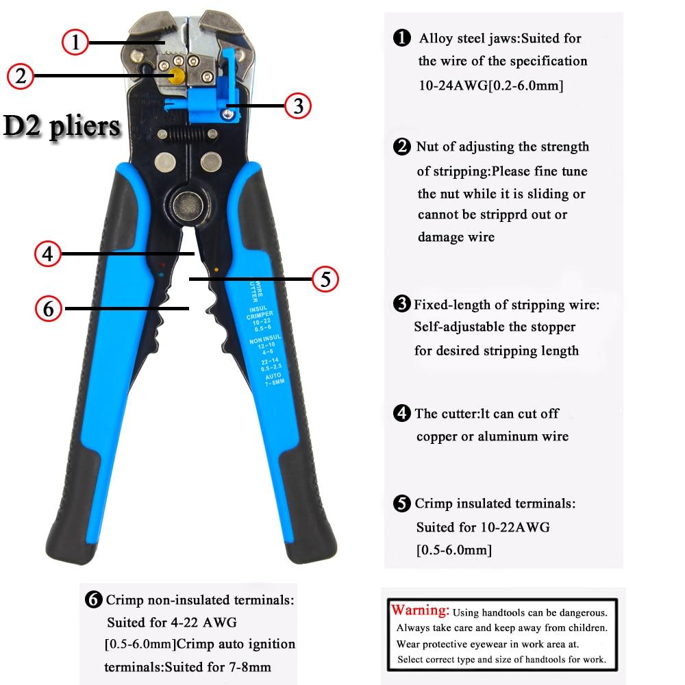Alicates multifuncionales para pelar, utilizados para cortar cables, - Herramientas manuales - foto 2