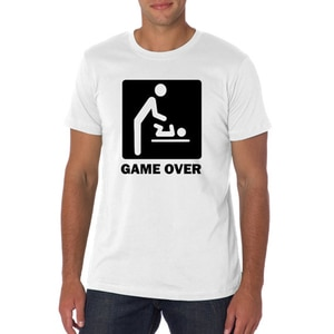 Graphic Tshirt T Shirt Men Cotton Tshirt Married Funny T Shirts Game Over Shirt White Black Red Plus Size Tee Tumblr  XS-XXXL