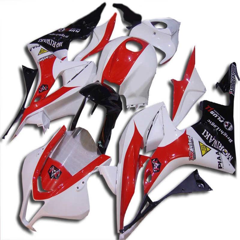 Kit de carenado de motocicleta para inyección CBR600RR F5 07 08 CBR600 RR CBR 600RR 2007 2008 ABS blanco rojo negro Juego de carenados + regalos ST66