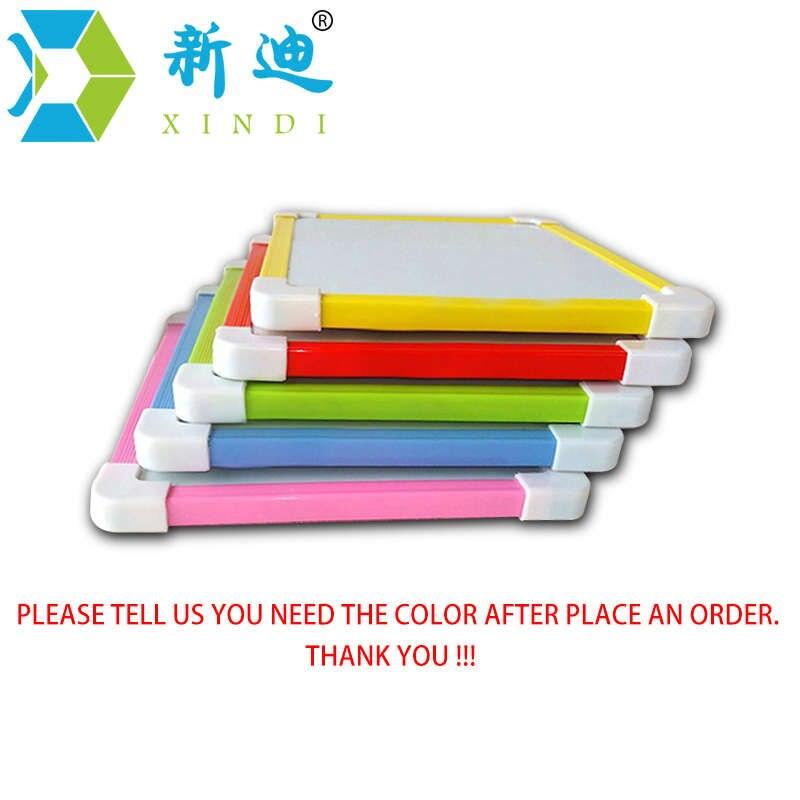 XINDI Magnetische Kinder Whiteboard Trocken Wischen Bord 5 Farben Mini Zeichnung Weiß boards 20,6*18,5 cm Kleine Hängen Bord freies Marker Stift