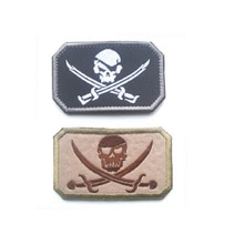 Patch brodé marine sceaux patch Jolly Roger Pirate crâne croisé épées Patch armée militaire tactique broderie insignes