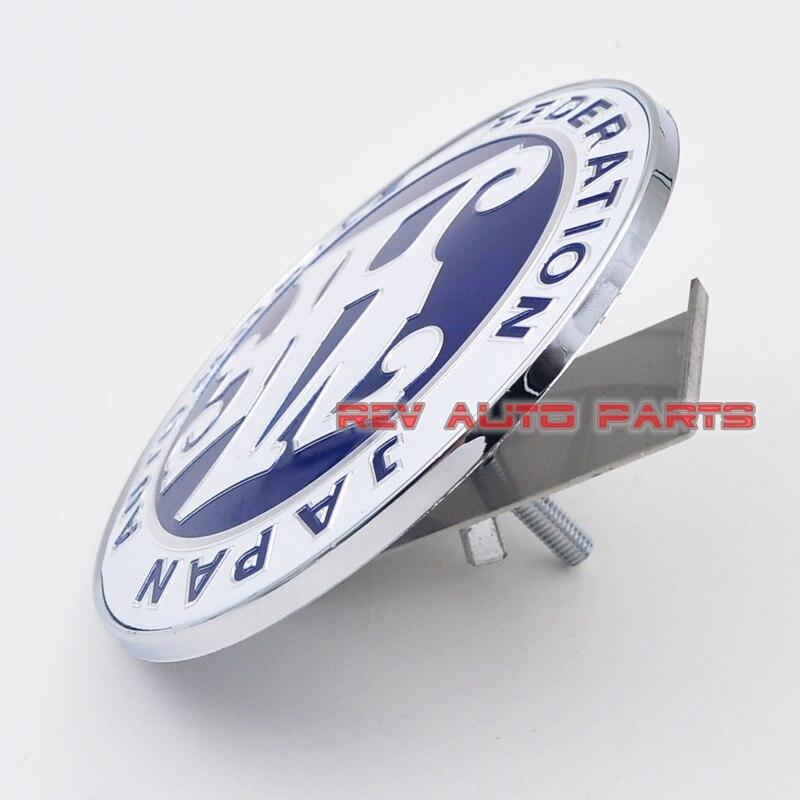 ¡Envío Gratis! Insignia emblema JAF rejilla frontal de coche JDM Color azul Universal