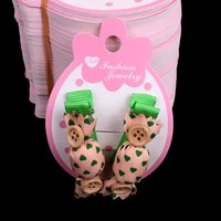 100pcslot kraft fashion jewelry children hair accessory hair clip card 8 0x5 5cm pink paper card hang tag jewelry displays