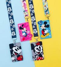 Retail 1 pcs mickey minnie Neck Strap Card Bus ID Holders Identity Badge Lanyard A-34