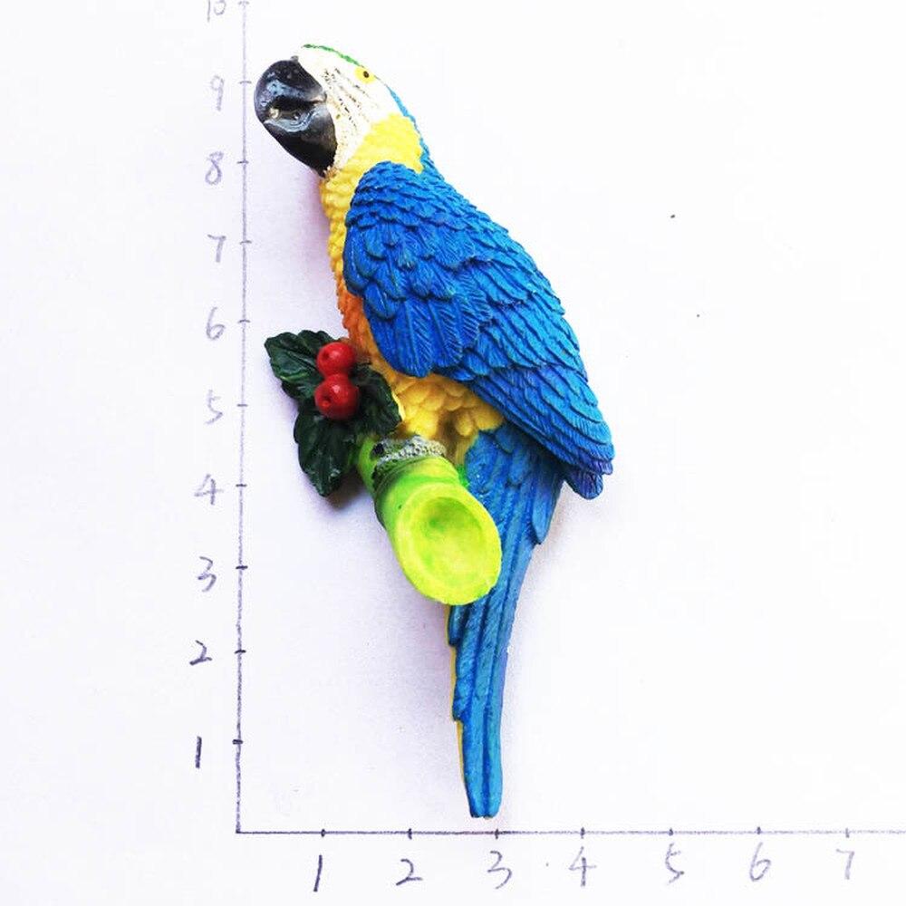 BABELEMI 3D Brazil Macaw Refrigerator Magnetic Sticker Famous Parrot Fridge Magnet Travel Souvenir Home Decor GIFT FOR Children