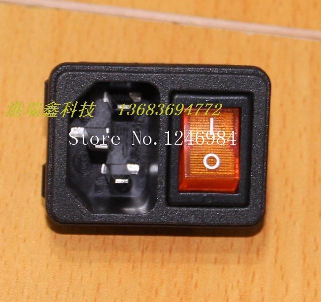 [Sa] jecac ac tomada triângulo com um cartão amarelo combo interruptor de soquete JR-101-1FSA -- 50 pçs/lote