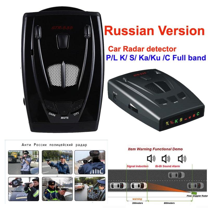 La versión rusa de auto-detector de radar STR535 Radar láser con led icono de pantalla X K NK Ku Ka láser strelka 16 marca