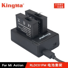 Nouveau KingMa chargeur de Batteries dorigine double chargeur chargeur de batterie pour Xiaomi Mijia Mini 4 K accessoires de caméra daction