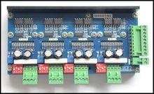 Nuevo diseño, controlador de Motor paso a paso de 4 ejes y 2 fases, subdivisión 4A16 TB6600 DD6600T4V2