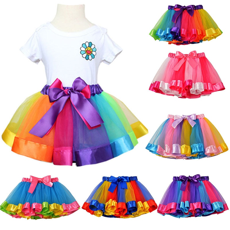 Новая юбка пачка, юбки для маленьких девочек, Юбки мини юбки принцессы, танцевальные радужные юбки из фатина, одежда для девочек, детская одежда|Юбки| | АлиЭкспресс