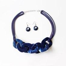 Nouveau collier de clavicule acrylique et boucles doreilles personnalisé mode femme banquet ensembles de bijoux pour femme